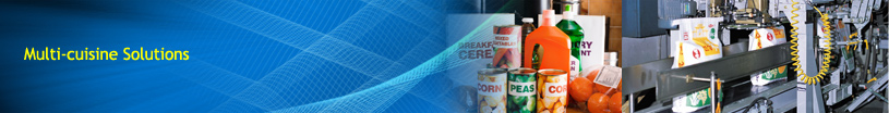 Customized solutions for food and beverage industries